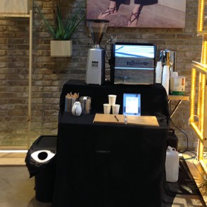 The little pop-up coffee stand